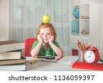 back to school. happy cute... | Shutterstock . vector #1136059397
