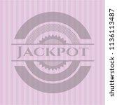 jackpot pink emblem. vintage. | Shutterstock .eps vector #1136113487
