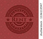 rent red emblem. vintage. | Shutterstock .eps vector #1136113547