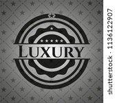 luxury retro style black emblem | Shutterstock .eps vector #1136122907