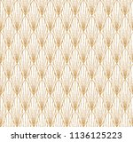 art deco seamless geometric... | Shutterstock .eps vector #1136125223