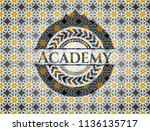 academy arabesque emblem... | Shutterstock .eps vector #1136135717