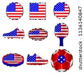 american flag  a set of icons... | Shutterstock .eps vector #1136140847