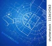 urban blueprint  vector .... | Shutterstock .eps vector #113614363