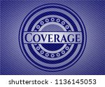 coverage emblem with jean... | Shutterstock .eps vector #1136145053