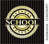 school golden badge | Shutterstock .eps vector #1136156357