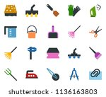 colored vector icon set  ... | Shutterstock .eps vector #1136163803