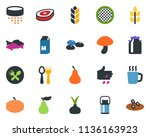 colored vector icon set   spike ... | Shutterstock .eps vector #1136163923
