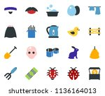 colored vector icon set  ... | Shutterstock .eps vector #1136164013