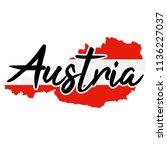 austria map silhouette flag... | Shutterstock .eps vector #1136227037