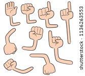 vector set of cartoon arm | Shutterstock .eps vector #1136263553