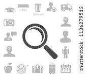 flat icon of loupe. vector... | Shutterstock .eps vector #1136279513