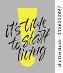 handwritten slogan it's time to ... | Shutterstock .eps vector #1136312897