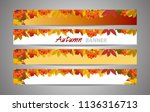 set banners for websites autumn ... | Shutterstock .eps vector #1136316713