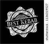 best kebab chalk emblem | Shutterstock .eps vector #1136319527