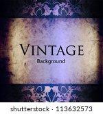vintage invitation | Shutterstock .eps vector #113632573