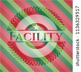 facility christmas style badge..   Shutterstock .eps vector #1136329517