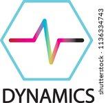dynamics logo   electronic...   Shutterstock .eps vector #1136334743