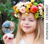 happy child in summer. ...   Shutterstock . vector #113633617