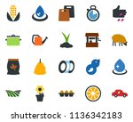 colored vector icon set   field ...   Shutterstock .eps vector #1136342183