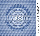 diversity blue badge with... | Shutterstock .eps vector #1136416313