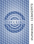 honourable blue badge with... | Shutterstock .eps vector #1136425973
