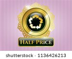 shiny badge with recycle icon... | Shutterstock .eps vector #1136426213