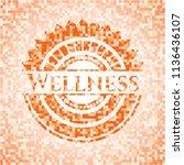 wellness abstract orange mosaic ...   Shutterstock .eps vector #1136436107