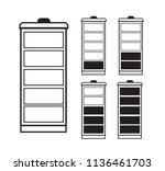 battery indicator icon set... | Shutterstock .eps vector #1136461703