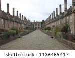 alms houses in wells   Shutterstock . vector #1136489417