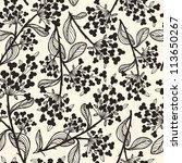 vector seamless floral pattern | Shutterstock .eps vector #113650267
