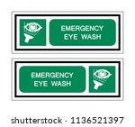 emergency eye wash symbol sign  ... | Shutterstock .eps vector #1136521397