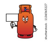 cartoon gas cylinder character... | Shutterstock .eps vector #1136565227