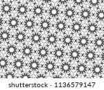 ornament with elements of black ... | Shutterstock . vector #1136579147