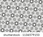 ornament with elements of black ... | Shutterstock . vector #1136579153