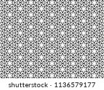 ornament with elements of black ... | Shutterstock . vector #1136579177