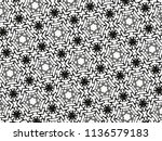 ornament with elements of black ... | Shutterstock . vector #1136579183