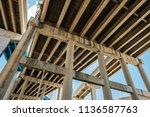 skyward view of interstate 95... | Shutterstock . vector #1136587763
