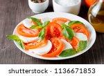 close up photo of caprese salad ... | Shutterstock . vector #1136671853
