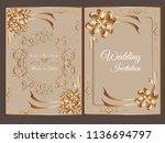 wedding invitation.save the... | Shutterstock .eps vector #1136694797