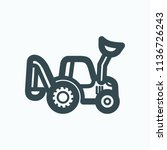backhoe loader icon  backhoe... | Shutterstock .eps vector #1136726243