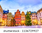 stortorget square in old town ... | Shutterstock . vector #1136729927