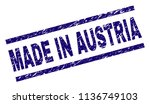 made in austria stamp seal... | Shutterstock .eps vector #1136749103