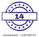 14 stamp seal watermark with... | Shutterstock .eps vector #1136760713
