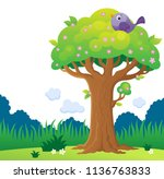 tree topic image 4   eps10... | Shutterstock .eps vector #1136763833