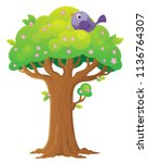 tree topic image 3   eps10... | Shutterstock .eps vector #1136764307