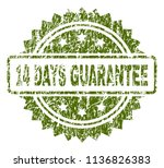 14 days guarantee stamp seal... | Shutterstock .eps vector #1136826383