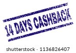 14 days cashback stamp seal... | Shutterstock .eps vector #1136826407