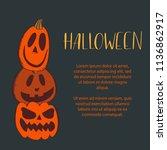 vector illustration of a banner ... | Shutterstock .eps vector #1136862917