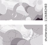 abstract vector background dot... | Shutterstock .eps vector #1136882483